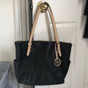 Michael Kors black and gold tote